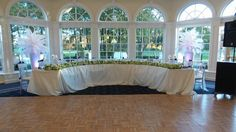 I love this head table setup! (nicer linen needed) Cherry Creek Golf Club &…