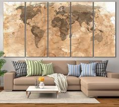 85341 large wall art world map canvas print custom world map push 85341 large wall art world map canvas print custom world map push pin wall art custom world map canvas poster print personalized wall art blank walls gumiabroncs Image collections