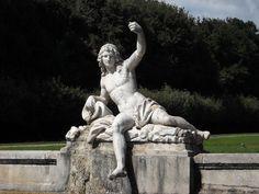 "Oreto River (Detail) - Fountain of Cereres (""LAND""=Fertility) with medallion of ""Trinacria"" (=Sicily) and the Sicilian rivers Simeto and Oreto - Sculptor Gaetano Salomone (1783) - Royal Gardens of Caserta"