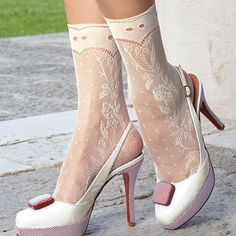 White lace ankle socks... This is a NO