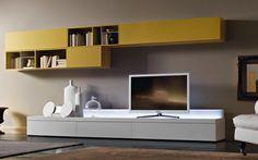 San Giacomo TV Wand mit einer LED Element - modernes Wohnen