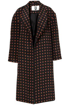 **QUILTED CROSS BOYFRIEND COAT BY UNIQUE    Price:$500.00