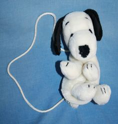 "Peanuts Snoopy plush Purse girls Dog handbag small soft toy Vtg 1968 9"" stuffed #Peanuts"