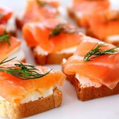 Smoked Salmon Appetizers - I think these would be a great way to incorporate gamier flavors during our wedding in ways everyone will enjoy!