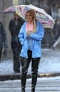Blue Raincoat, Plastic Raincoat, Pvc Raincoat, Marina Hoermanseder, Vinyl Clothing, Rainy Day Fashion, Charles River, Pvc Vinyl, Rain Wear