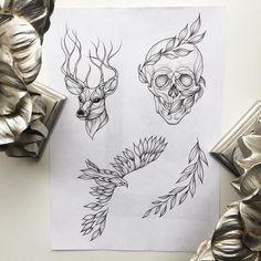 #sketch #tattoo Свободные эскизыжелающие записаться на апрель в Москве пишите Shmarinova13@mail.ru