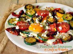 Plancha legume de courgettes poivrons grillés et œufs paprika de Gut • Hellocoton.fr