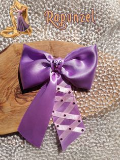 Rapunzel hair bow Disney inspired by BOWSbeadsBOWS on Etsy