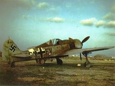 FW 190G-3 WNr.160022 of the III/SKG 10, abandoned 9.Sept. 1943 at Monte Corvino, Italy