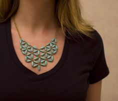 cait makes things: knock-offs: j.crew tesselate necklace
