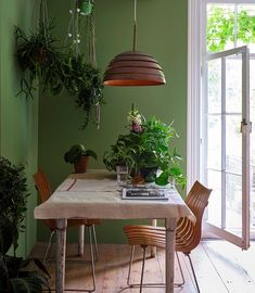 LOVE this shade of green from Farrow & Ball! Olive Green Paints, Sage Green Paint, Green Paint Colors, Wall Paint Colors, Lime Green Walls, Farrow Ball, Green Dining Room, Green Rooms, Best Wall Paint
