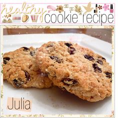 Healthy Cookie Recipe - sweetened with dates and applesauce, so they're sugar free, held together with oats, chia seeds, etc, so they're wheat free, and have fats from almond butter, so dairy free. I'll take it!