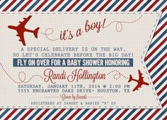 Vintage Airplane or Aviation Baby Shower by SayItLoudDesigns, $15.00