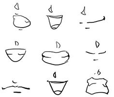 How to Draw Anime Lips & Mouths (use as reference for drawing of Adam & I)
