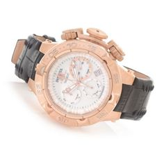 Invicta Women's Subaqua Noma V Swiss Made Quartz Chronograph Leather Strap Watch