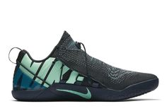 """The famed """"Mambacurial"""" series of the Nike Kobe signature shoe line returns on the Kobe AD NXT. Featuring a blend of dark green and turquoise tones, this upcoming Kobe release boasts the bold NIKE branding on the medial side of … Continue reading → Best Basketball Shoes, Soccer Boots, Nike Basketball, Nike Shoes, Sneakers Nike, Shoes Men, Sneaker Magazine, Nike Models, Kobe Bryant"""
