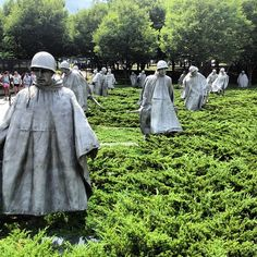 The Korean War Veterans Memorial is located in Washington, D.C.'s West Potomac Park, southeast of the Lincoln Memorial and just south of the Reflecting Pool on the National Mall. It commemorates those who served in the Korean War.