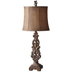 Uttermost Gia Antiqued Light Brown Table Lamp