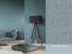 Farb-Stilkonzept Rasch-Textil Indigo-226286 Blau-Grau Ornament-Muster Vliestapete Wohnzimmer Schlafzimmer Stil-Fabrik Christoph-Baum