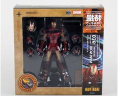 32.99$  Buy now - http://alivem.worldwells.pw/go.php?t=32611967333 - SCI-FI Revoltech Series NO.036 Iron Man Mark III MK3  PVC Action Figure Collectible Model Toy 15cm 32.99$