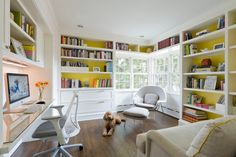 We totally loved the super comfy and chic home office design ideas mentioned above. You can simplify your home office designing process by looking out for these ideas. Home Library Design, Office Interior Design, Office Interiors, Office Designs, Library Ideas, Home Office Space, Home Office Decor, Home Decor, Small Office