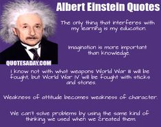 Some great Einstein sayings