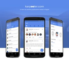 Karpooler.com Android App Project on Behance