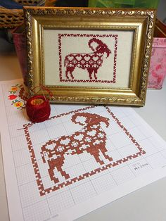 Free Cross Stitch Pattern: Canarian Goat | My third incursio… | Flickr