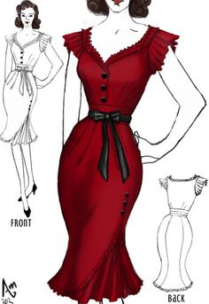 1940s Dress design by Amber Middaugh
