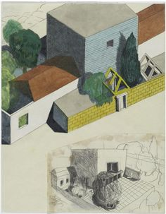 Architectural drawing - Ettore Sottsass, 1989