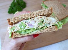 'Chickpea of the Sea' Salad Sandwich Why not add a little kelp powder for a real seafood taste?
