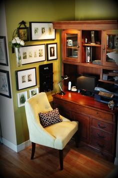 Small Office Idea   Love This Corner.