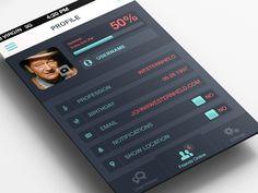 Profile Settings by Anke Mackenthun. 25 Stunning Mobile UI Examples #mobile #UI
