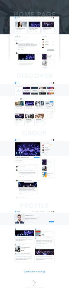 Intranet / Alumni – User interface by Bilal Ck