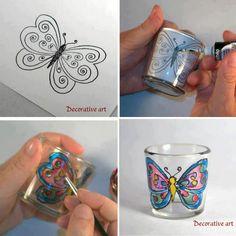 decorando cristal
