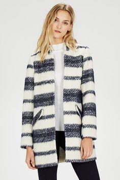 Stripe Edge to Edge Coat