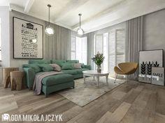 Dom w Koninie - Salon, styl vintage - zdjęcie od Magda Mikołajczyk PRACOWNIA PROJEKTOWANIA WNĘTRZ