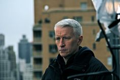 Anderson Cooper in NYC during Hurricane Sandy