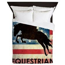 Grunge USA Equestrian Queen Duvet for