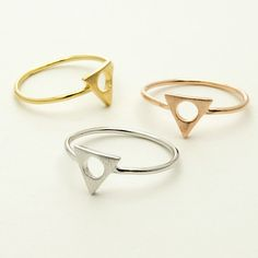 Silver Triangle Geometric Tri Force Fashion by GypsyTraderBoutique