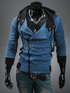 Assassin's Creed Desmond sweat moderne à la mode en coton et col à revers - Milanoo.com