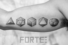 Sacred Geometry Tattoo This Is A Of The Five Platonic Solids