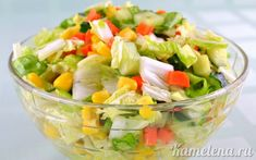 Рецепт салата: овощной салат «цветной».