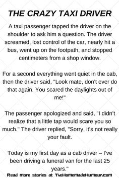 The Crazy Taxi Driver!- A Short Funny Story