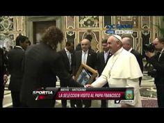 El Papa Francisco recibió a la Selección Argentina en el Vaticano