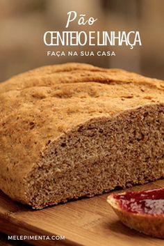 Pão de Centeio e Linhaça    Pão caseiro, delicioso e saudável. Prepare essa receita de pão de centeio e linhaça em casa.