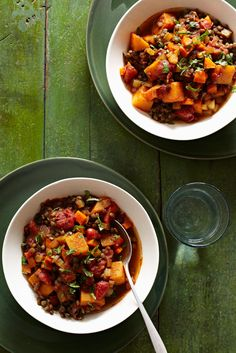 Squash and Lentil Stew from familycircle.com #myplate #inseason #veggies #stew