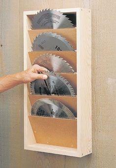 http://www.woodsmithplans.com/plan/saw-blade-rack/ #woodworkingtools