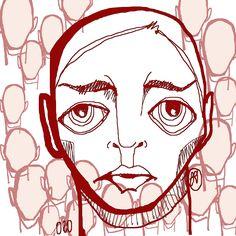 Cabezona020_NI UN MUERTO MÁS #cabezonasdeela #300cabezonasdeela #cabezonasdeela2017 #ilustración #illustration #caraqueños #migente