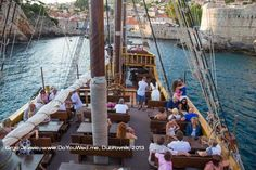 Wooden galleon cruise, close to Old City Walls and Lovrijenac fortress, Dubrovnik, Croatia